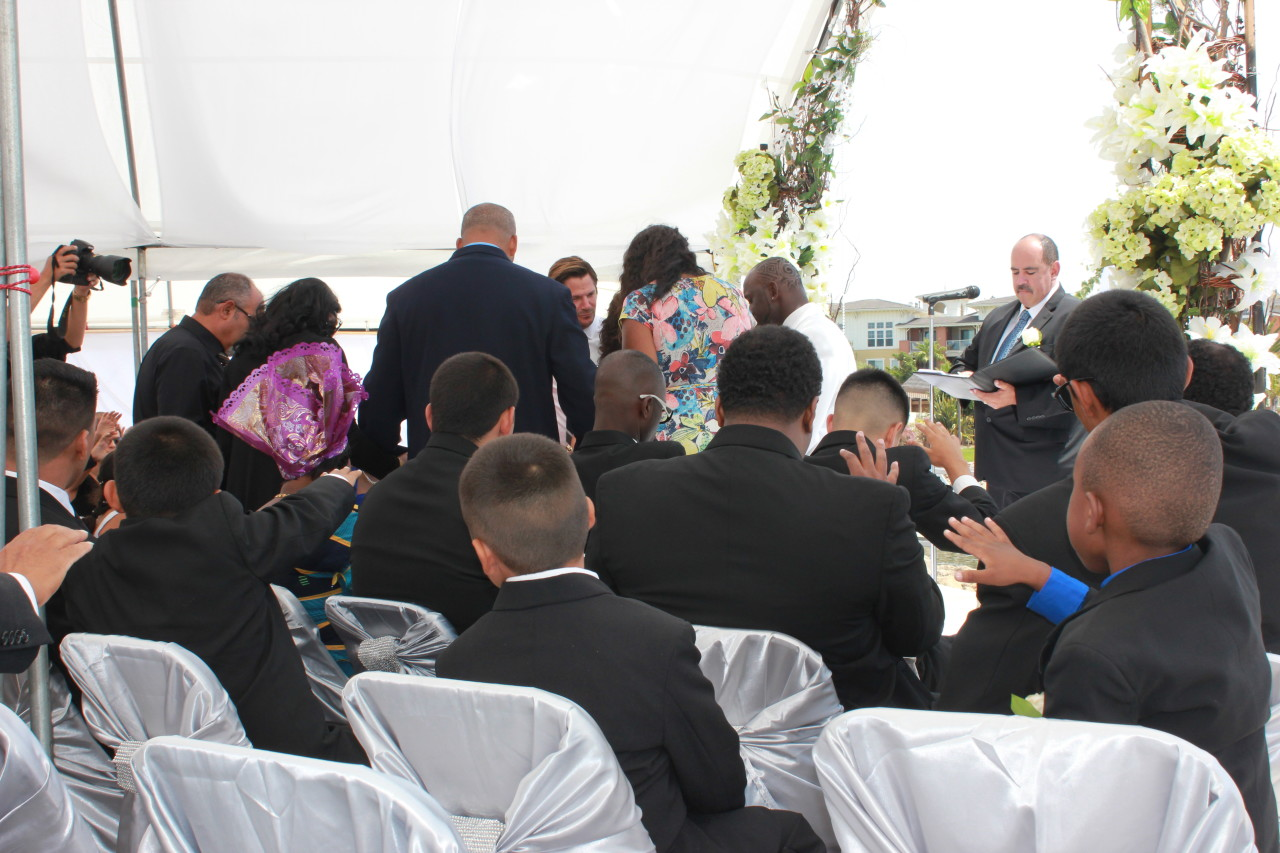 Praying over the Happy Couple
